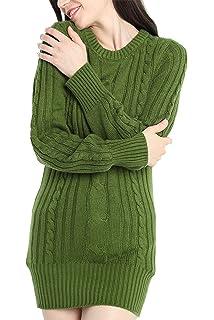 33b89316d94 Spadehill Women's Cable Knit Long Sleeve Winter Sweater Dress at ...