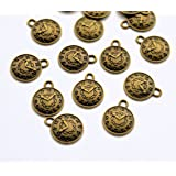12 x Tibetan Antique Bronze Colour Clock Watch Charm Pendants Attachment rings included by AC Crafts
