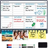 NoteTower Magnetic Dry Erase Refrigerator Weekly Planner, Combo Week Calendar White Board & Paper Holder, Organizes The…