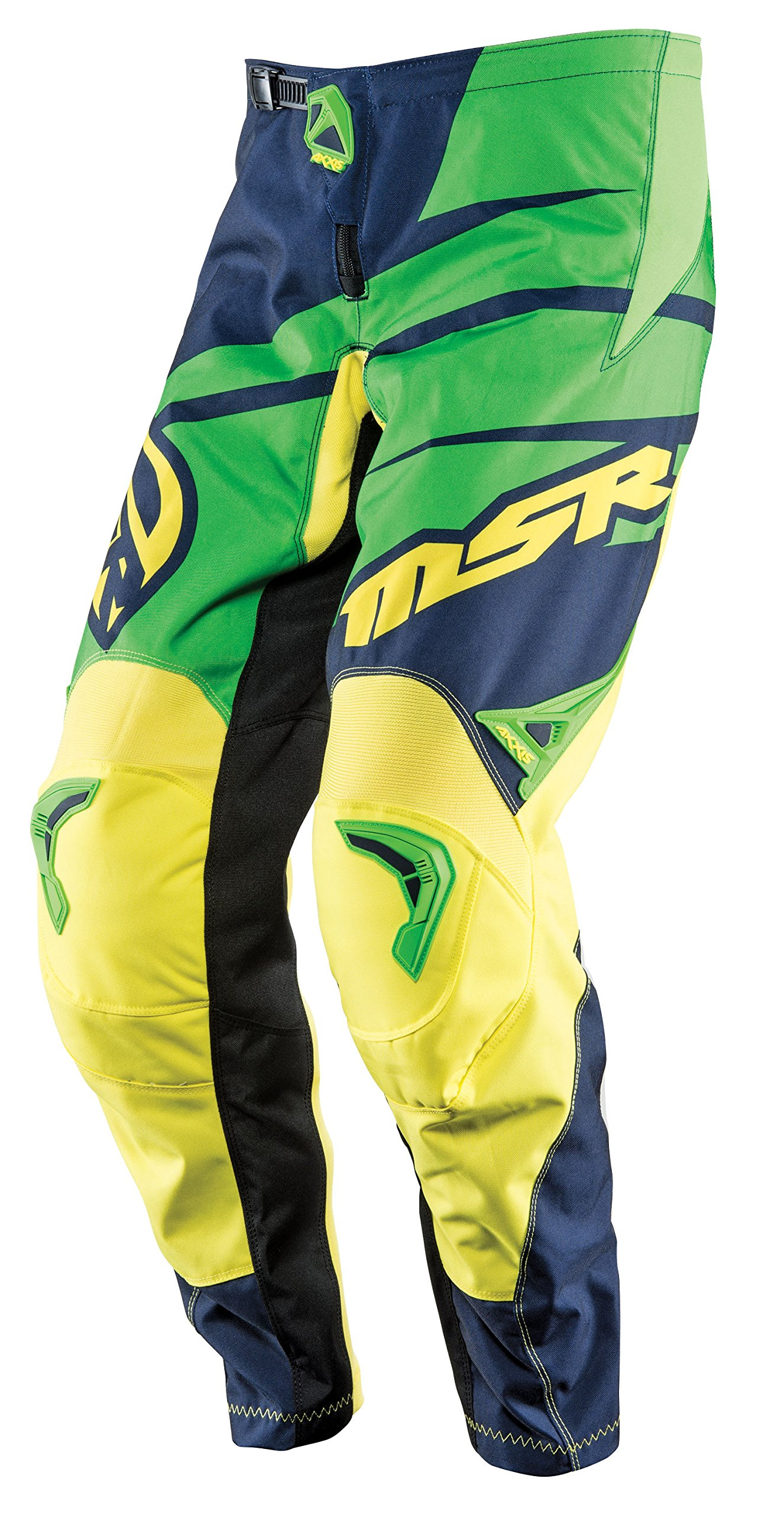 MSR M15 Axxis Pants, Gender: Mens/Unisex, Primary Color: Green, Size: 38, Distinct Name: Blue/Green/Yellow 352248