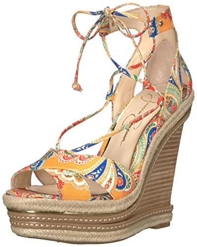 Jessica Simpson Womens Adyson Wedge Sandal Buff Size 95