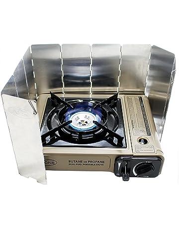 F-blue Plegable Estufa Camping al Aire Libre de Gas butano con Mochila Quemador de la Estufa de Gas del Horno de Picnic Estufa Cocina de Gas