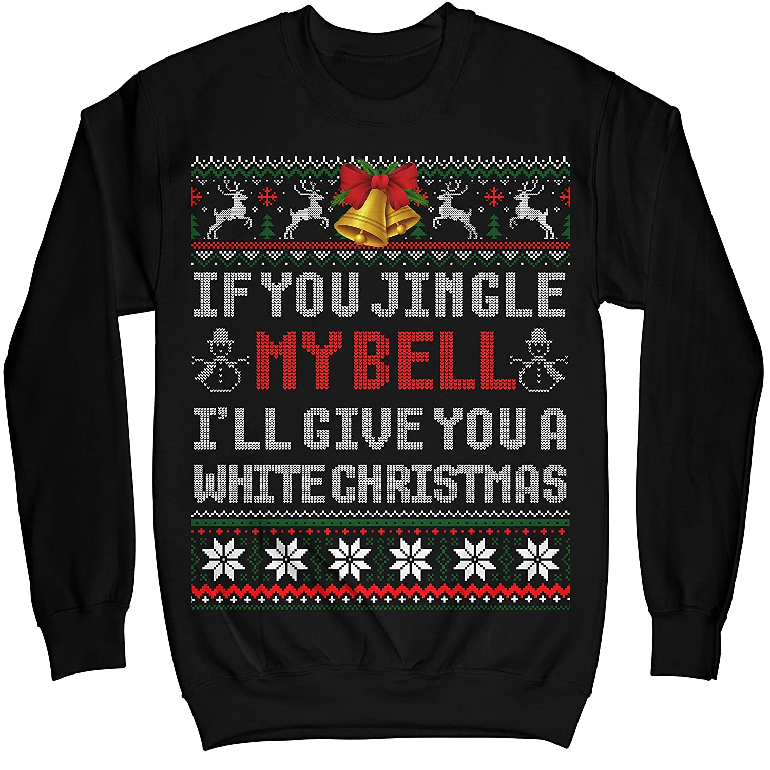 Apparel Jingle My Bells Funny Adult Christmas Ugly Sweater Noel Merry Xmas Swe Shirts
