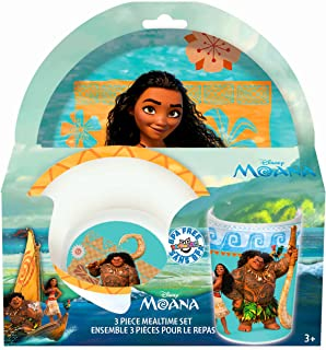 Disney Moana 3-Piece Mealtime Set with Plate Bowl and Tumbler - Melamine Dinnerware  sc 1 st  Amazon.com & Amazon.com | Disney Fairies Tinkerbell 3pc Dinnerware Gift Set ...