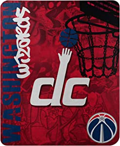 "Officially Licensed NBA ""Hard Knocks"" Printed Fleece Throw Blanket, Multi Color, 50"" x 60"""