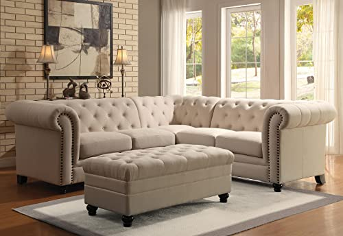 Coaster Roy Button Tufted Sectional