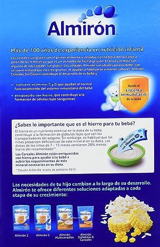 Almirón Papilla de cereales sin gluten a partir de 4 meses - Paquete de 3 x 500 gr - Total: 1500 g: Amazon.es: Alimentación y bebidas