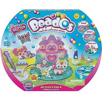 Beados - Glitter Actividad Pack - Actividad Kit Castillo Princesa Versión Francesa: Juguetes y juegos