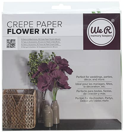Amazon.com: We R Memory Keepers Crepe Paper Flowers Brown