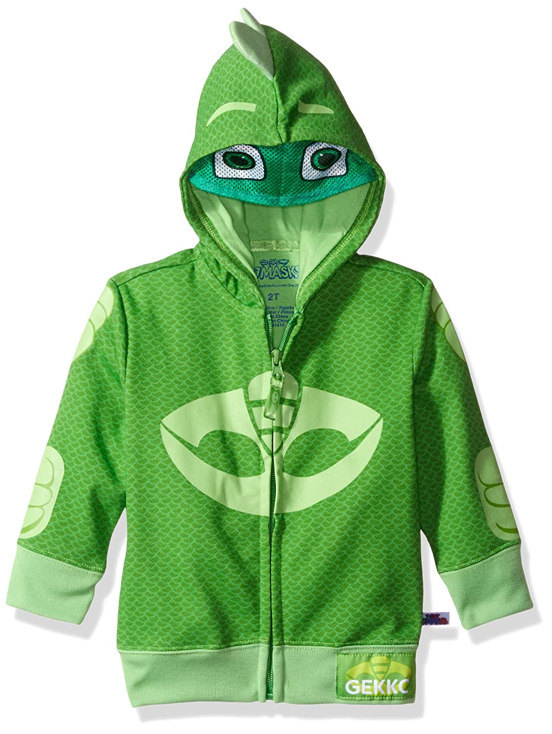 PJ Masks Gekko Toddler Boy's Zip-Up Mask Hoodie PJST014