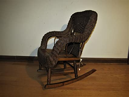 Antique Heywood-Wakefield Child's Wicker Rocking Chair f7054 - Amazon.com: Antique Heywood-Wakefield Child's Wicker Rocking Chair