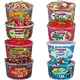 Haribo Mix de bonbons Schtroumpfs, fantômes à l'aspérule, cerises, bonbons acides au concombre, Happy Cola, Schtroumpfs acides, fraises géantes, 8pots, 10,2kg