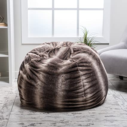 Beau Meridian Bean Bag Chair | Plush Faux Fur Chair | Comfortable And Fun Beanbag  For The