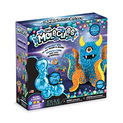 "The Orb Factory ORBMolecules Octobeast Never Dries Compound, Blue/Orange/Yellow, 9.44"" x 3.44"" x 8.44"": Toys & Games"