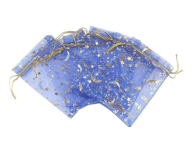 Amazon.com: QIANHAILIZZ 100 Moon Star - Bolsa de organza ...