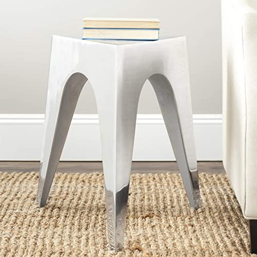 Safavieh Home Collection Amanda Triangle Aluminum Side Table