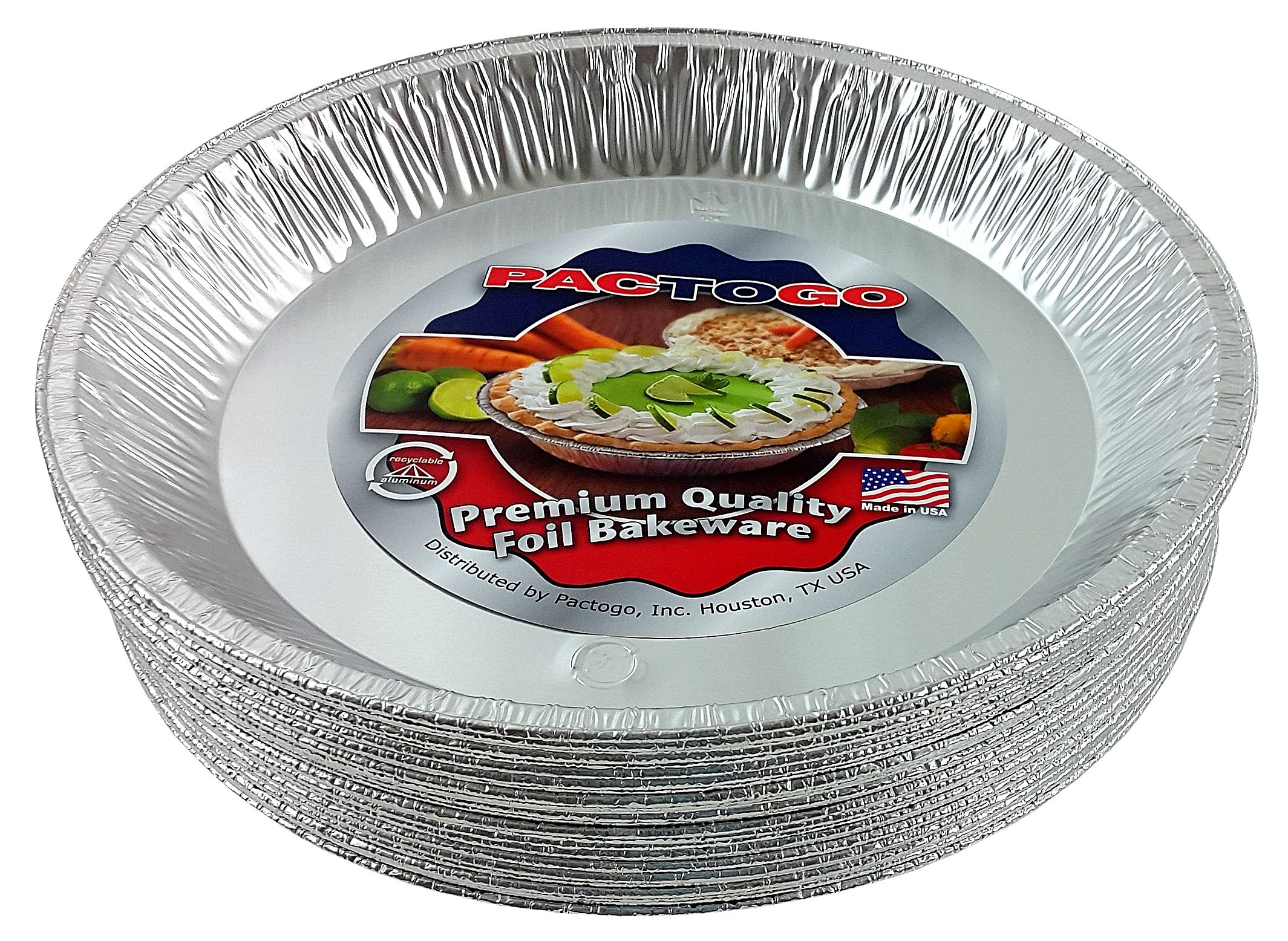 Pactogo 12'' Aluminum Foil Pie Pan Extra-Deep Disposable Tin Plates (Pack of 500) by PACTOGO (Image #6)