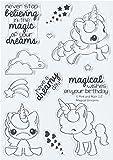 "Pink & Main PM0180 N/A clear Stamps 4""X6""-Magical Unicorns"