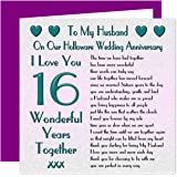 On Your 16th Wedding Anniversary Card 16 Years