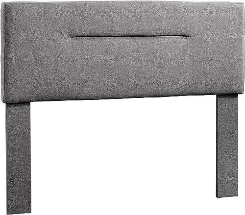 Sauder Soft Modern Headboard, Queen, Charcoal Gray finish
