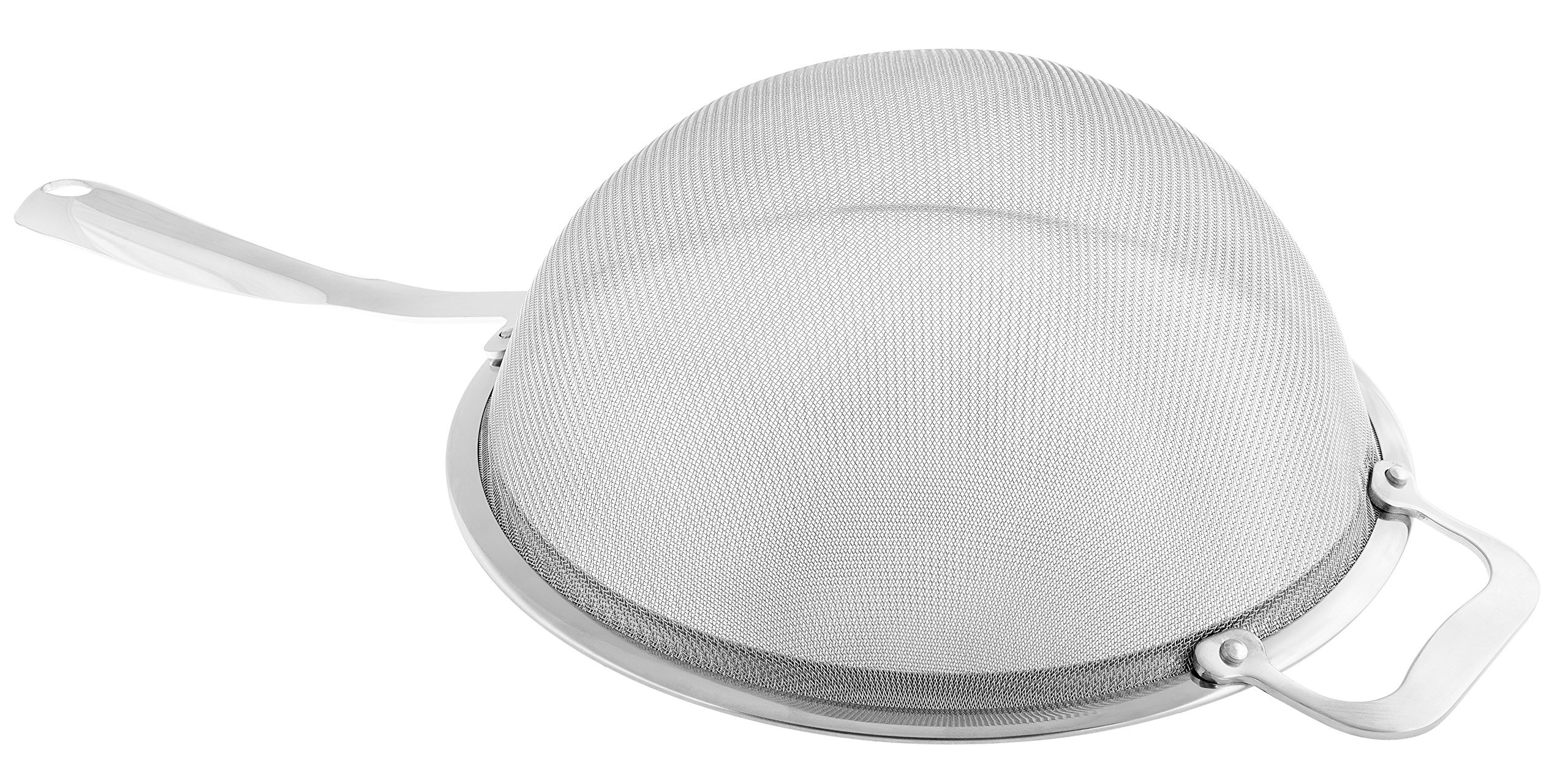 KUKPO Strainer - Fine Stainless Steel Double Mesh Strainer, 9 Inch Diameter!