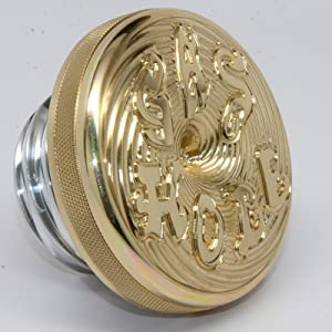 Speed Dealer Customs Brass Gas Hole Tank Cap for Harley 1983-2017 Softail Dyna Sportster