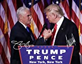 Donald Trump and Mike Pence Autographed Preprint #2 11x14