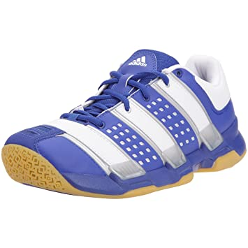 adidas court stabil indoor court shoes blue white