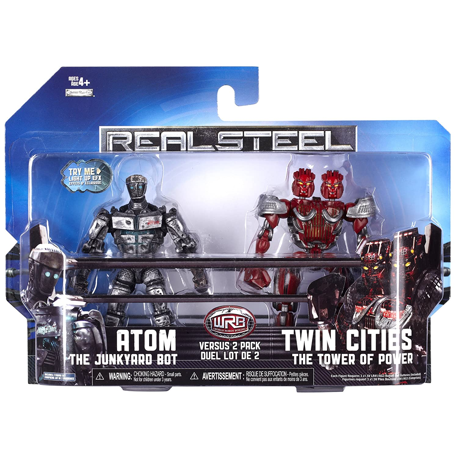 Atom vs Twin Cities Jakks 36136 Real Steel Versus 2 Packs Assortment 1