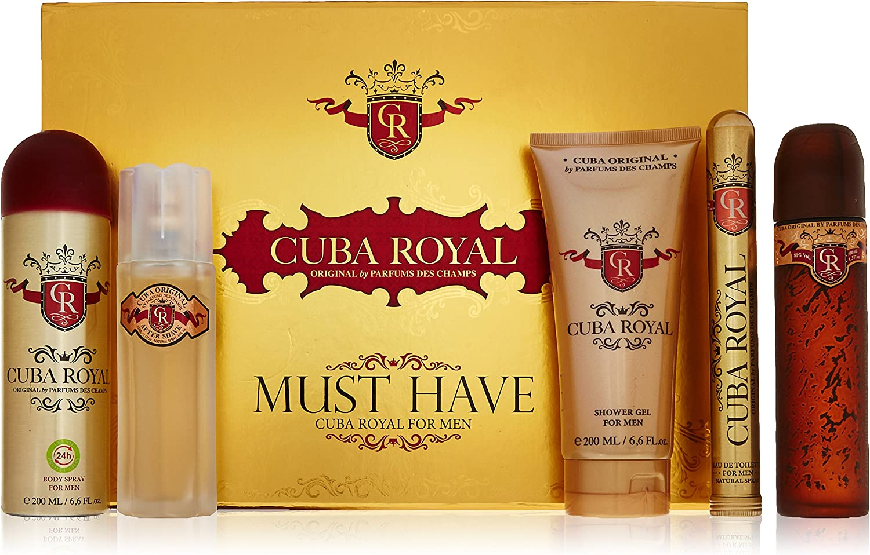 Cuba Royal 5Pc Gift Set 3.4oz EDT