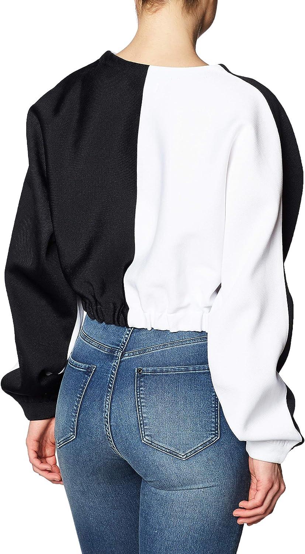 adidas BK5993, Frauen-Sweatshirt Black/White