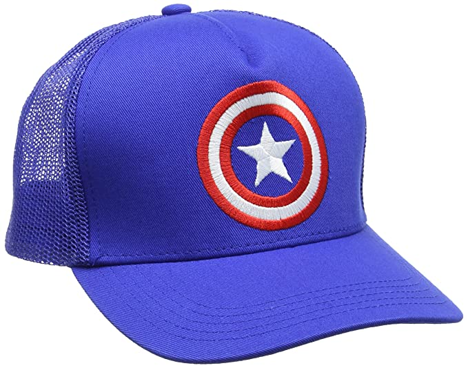 bd6b0bddf434 Marvel Captain America-Shield-Kids, Casquette De Baseball Mixte Adulte, Bleu  Azur