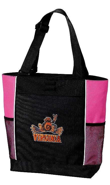 d74d90faed5b Amazon.com : University of Virginia Peace Frogs Tote Bag Ladies UVA ...