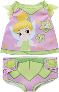 My Disney Nursery Baby Doll Clothes & Accessories, Tinker Bell Diaper Accessory Pack Inspired by Disney's Tinker Bell Character! Includes Doll T-Shirt, Doll Diaper Cover, Clip with Charm
