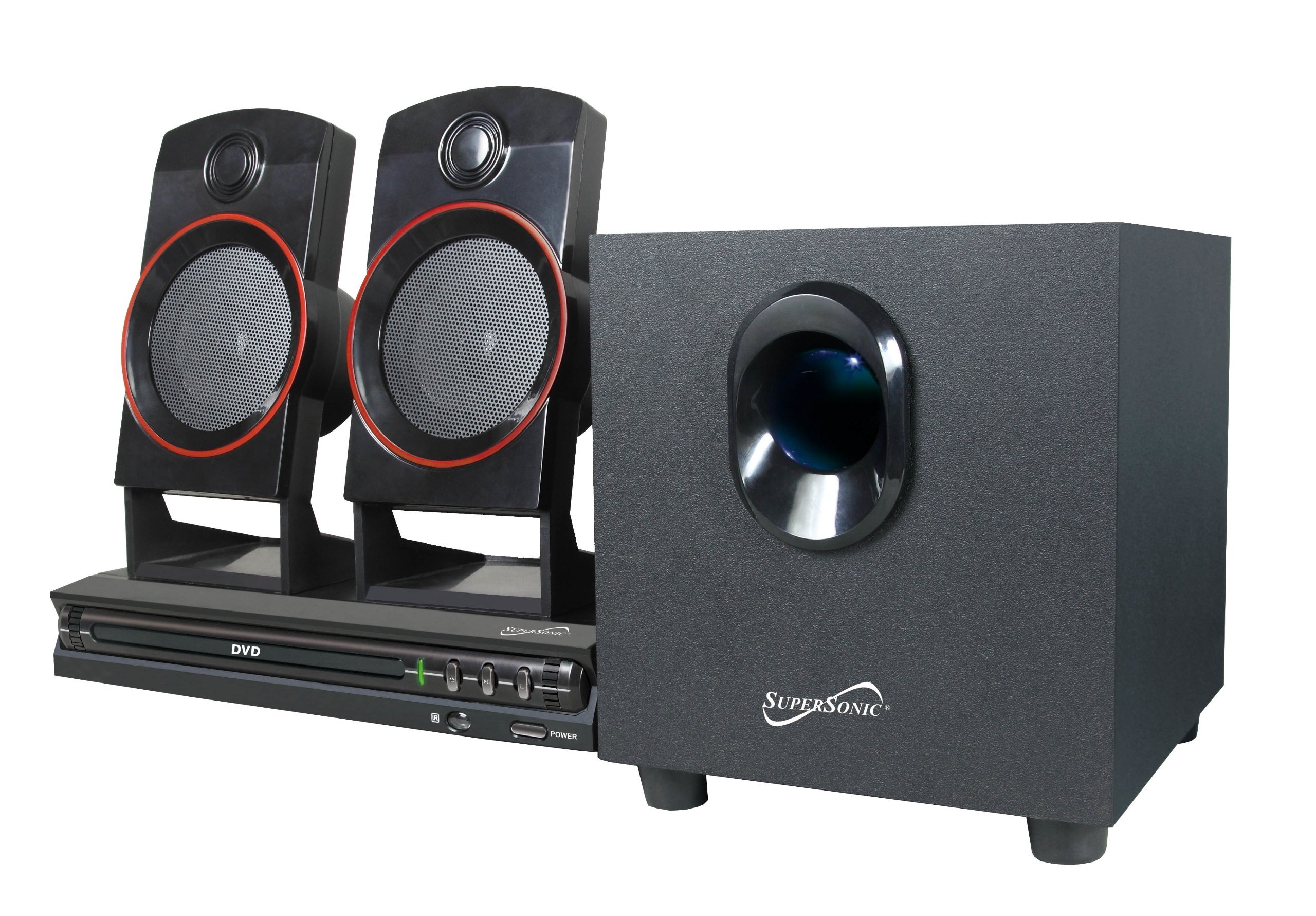 Supersonic SC-35HT SC-35GT 2.1 Home Theater System (Discontinued by Manufacturer) by Supersonic