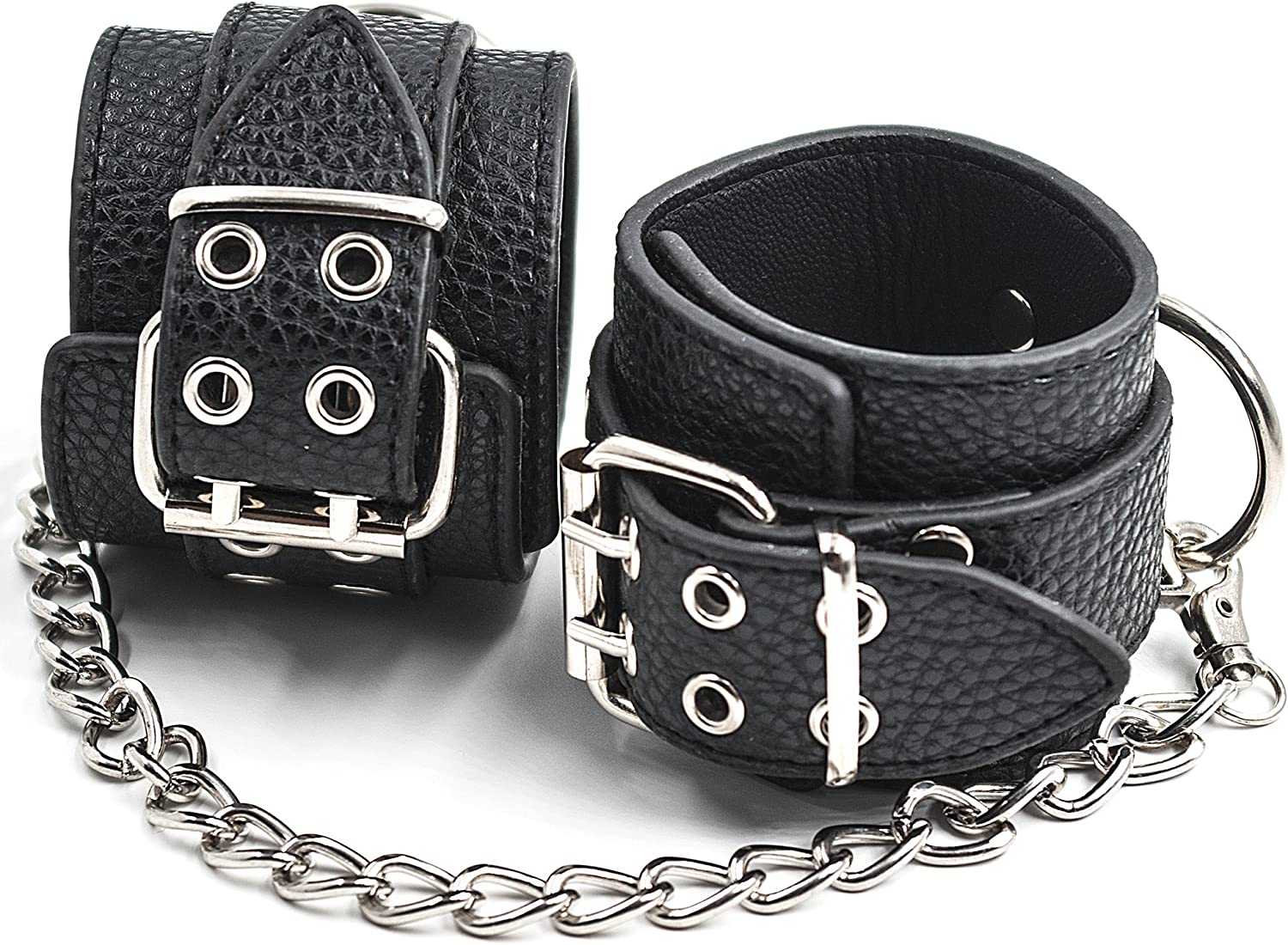Strong Nylon Wrist Tie up to Neck Collar Choker with Handcuffs Couple Role Play