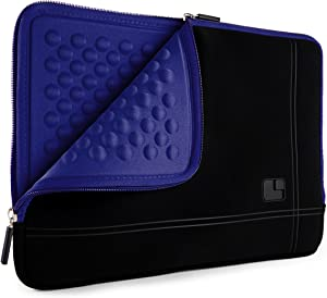 SumacLife 15.6inch Shock Absorbing Navy Blue Laptop Sleeve Suitable Dell Inspiron, Latitude, Precision, Vostro, XPS, G3 15