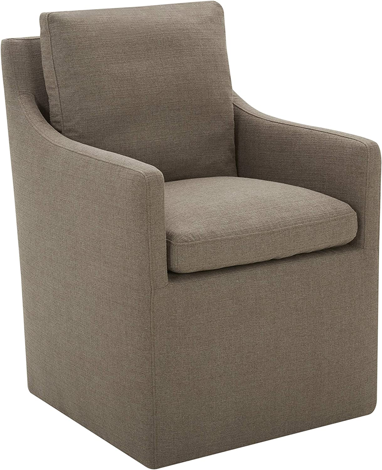 Amazon Brand – Stone & Beam Vivianne Modern Upholstered Dining Chair with Casters, 24.4