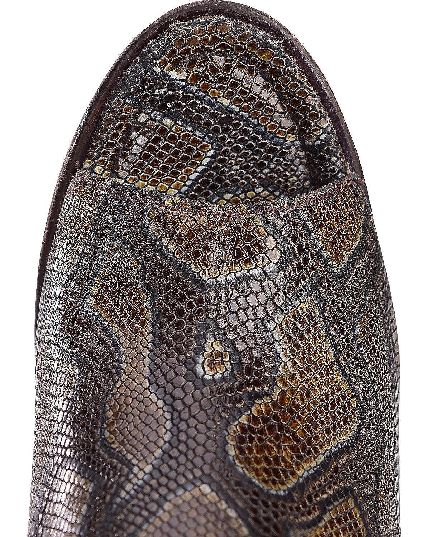 LIBERTY BLACK Womens Brenton Snake Print Booties