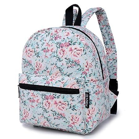 d0fdb55a2404b Lily   Drew Mini Segeltuch Leichtgewicht Rucksack Daypack (Blumen Blau)
