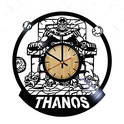 Amazon Com Thanos Comics Design Vinyl Wall Clock Handmade Gift