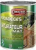 Owatrol Aquadecks Saturateur mat à l'eau tous bois 2,5 L Teck