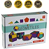 Geometiles 3D Building Set for Learning Math, Includes Online Activity Books, 96-pc, Made in USA
