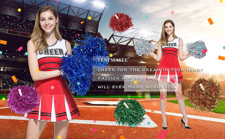 1 Paar VENI MASEE Collectie Cheerleader Pompons 6 Kleuren 0,02 kg//stuk Prijs Er 2 Stuks