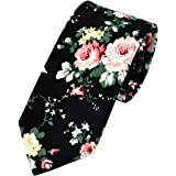 Men's Floral Tie Fashion Slim Skinny Neckties Causal Formal Occasion Wedding Business