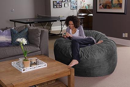 Sofa Sack - Bean Bags Silla, 5 pies, carbón de leña: Amazon ...