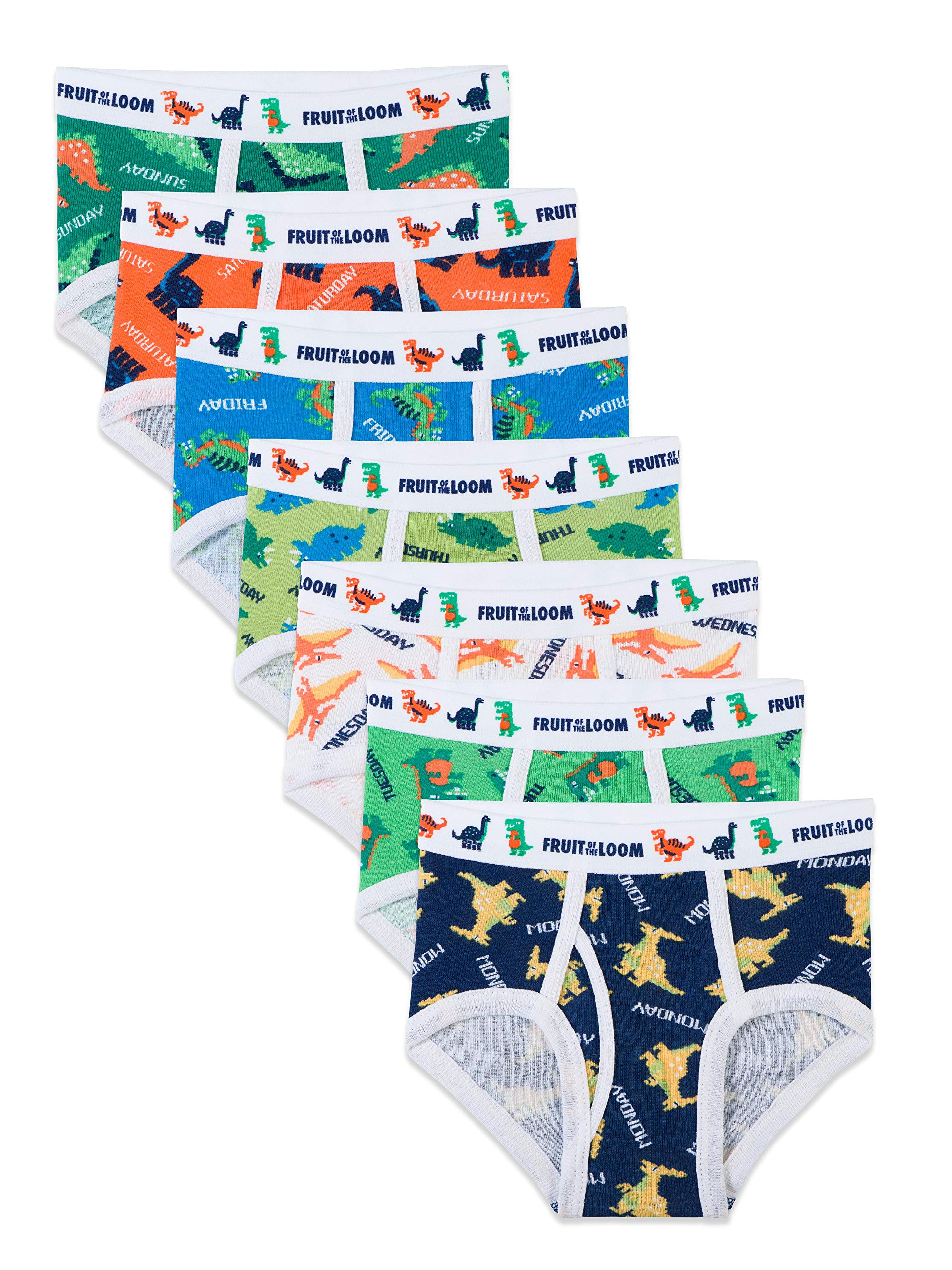 Fruit of the Loom Days of the Week  Brief, Assorted Prints, 2T/3T(Pack of 7) by Fruit of the Loom