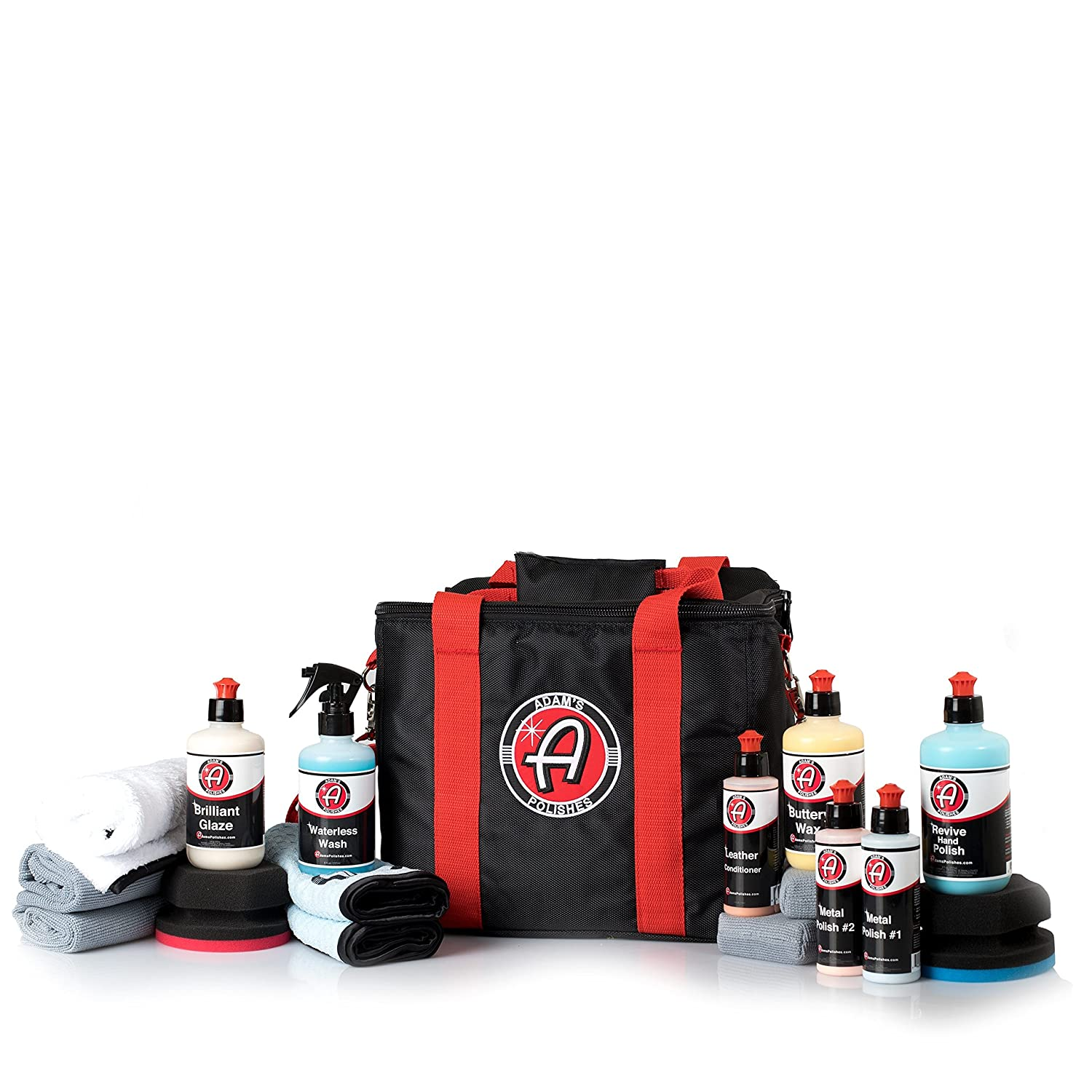 Adam's Motorcycle Detailing Kit - Clean, Shine, and Protect Your Bike - Specially Designed For Motorcycle Detailing Adam' s Polishes
