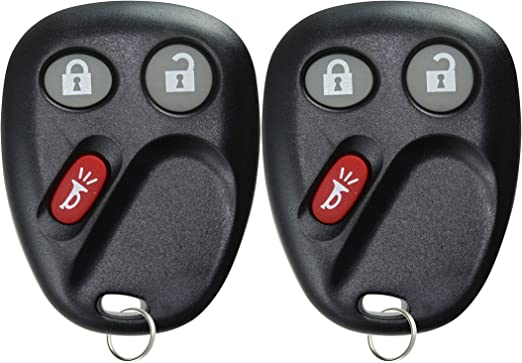 2 Pack 3 Buttons 315Mhz LHJ011 Keyless Entry Car Fob Remote Key For Chevrolet Avalanche Sierra Suburan Silverado