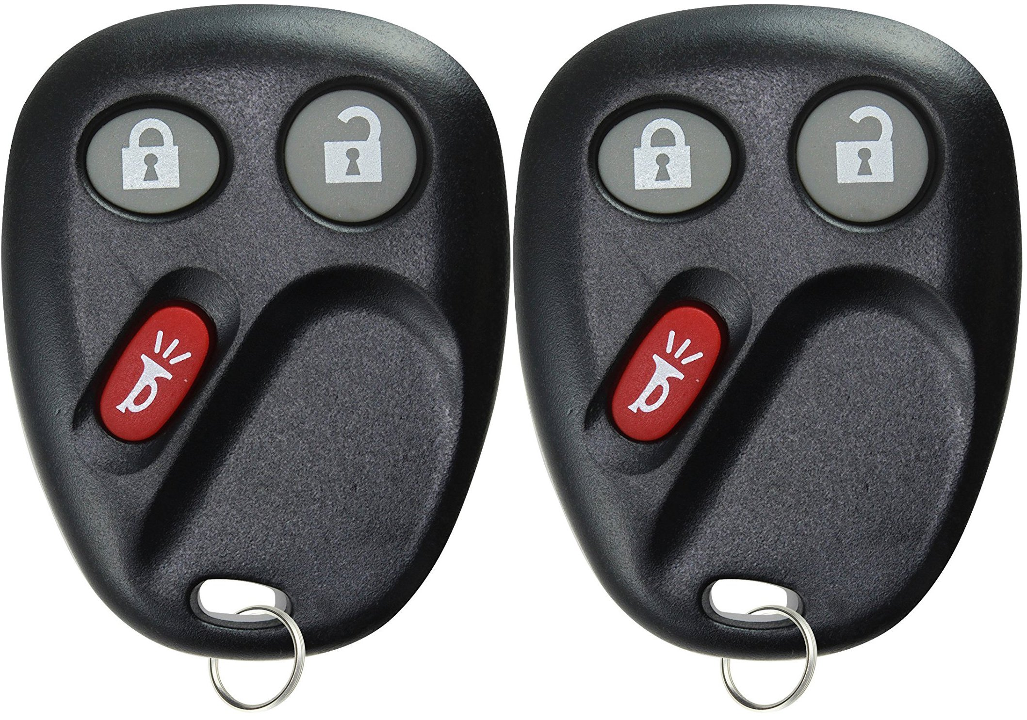 KeylessOption Keyless Entry Remote Control Car Key Fob Replacement for LHJ011 (Pack of 2) by KeylessOption